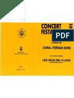 Programa de mà. Concert Sant Andreu de la Barca