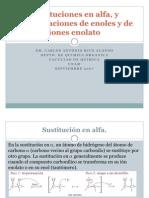 Sustituciones en en Alfa y Condensaciones Aldolicas