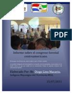 Diego Lino; Informe Sobre El Congreso Forestal CA.
