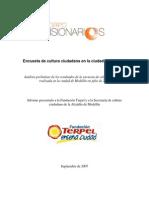 Encuesta de Cultura Ciudadana Medellin