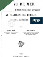 Quinton Rene - L Eau de Mer en Injections Isotoniques Sous-cutanees