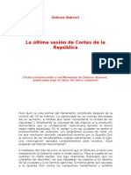 La Ultima Sesion de Cortes de La Republica