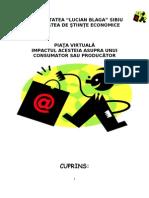 Piata Virtuala Si Impactul Asupra Consumatorului