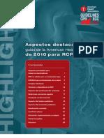 Resumen, Modificaciones Aha 2010[1]