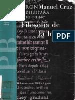 Manuel Cruz Filosofia de La Historia 1991