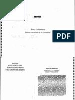 Eichenbaum - En torno a la cuestión de los formalistas