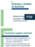 Restricciones y Limites Dominio 2011