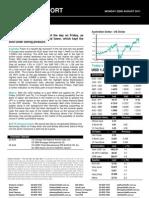 Australian Dollar Outlook 22 August 2011