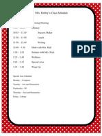 Embry Schedule