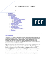 Software Design Specification Template