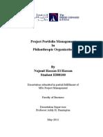 Project Portfolio Management in Philanthropic organizations