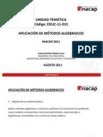 APLICACIÓN DE MÉTODOS ALGEBRAICOS