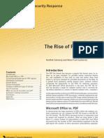 The Rise of PDF Malware