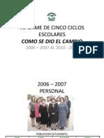 INFORME DE CINCO AÑOS IVSC