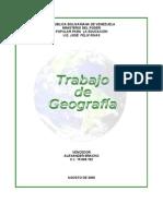 trabajo de geografìa