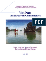 Vietnam Initial National Communication Under the United Nations Framework Convention on Climate Change