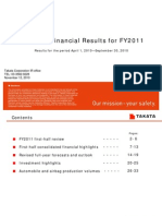 Takata_first-half Financial Result for FY2011