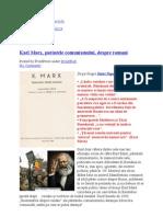 Karl Marx, Parintele Comunismului Despre Romani