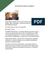 19-08-11 U.S. Oil Speculative Data Released by Senator, Sparking Ire