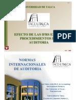 Efecto de las Ifrs en los Procedimientos de Auditoria, Sr. José Salas, Ph.D, Universidad de Talca