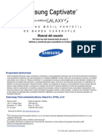 ATT SGH-i897 Captivate Spanish User Manual Samsung Tactil