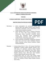 PMK No. 971 Ttg Standar Kompetensi Pejabat Struktural Kesehatan