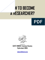 How to Become a Researcher