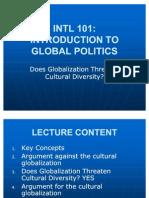 INTL 101 Cultural Globalization II