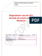 Diagnosticar uso de CPU elevado de oracle.exe en Windows