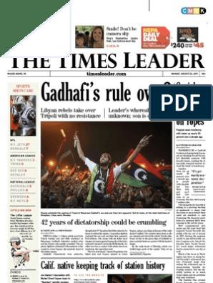 6f18305d029 Times Leader 08-22-2011 | Powerball | Bashar Al Assad
