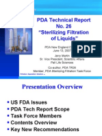 NE25. Sterilizing Liquid Filtration TR26