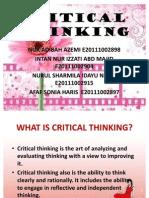 Critical Thinking Presentation