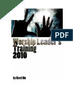 Worship Leaders Training - Session 1 - Leaders Workbook
