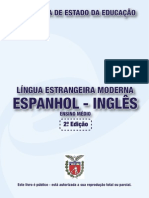 Apostila SEED Língua Estrangeira - Espanhol - Inglês