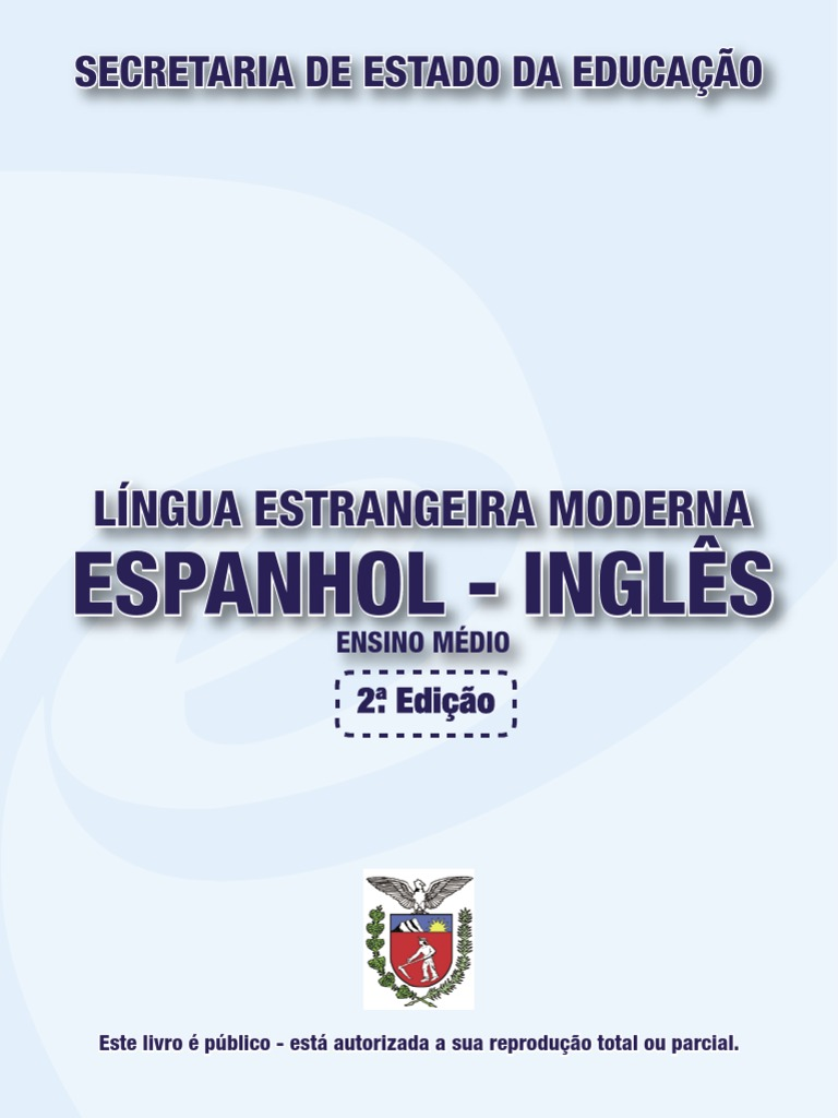 Apostila seed lngua estrangeira espanhol ingls fandeluxe Images