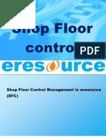 Shop Floor Control in Eresource Erp