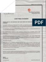 Sterling Bank PLC - Equitorial Bank PLC Joint Press Statement on signing of Transaction Implementation Agreement - Thisday newspaper - August 22, 2011