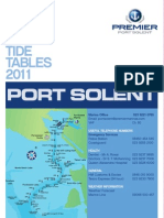 Port So Lent Marina Tide Tables 2011