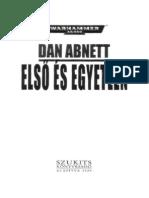 01 Dan Abnett - Elsï és egyetlen
