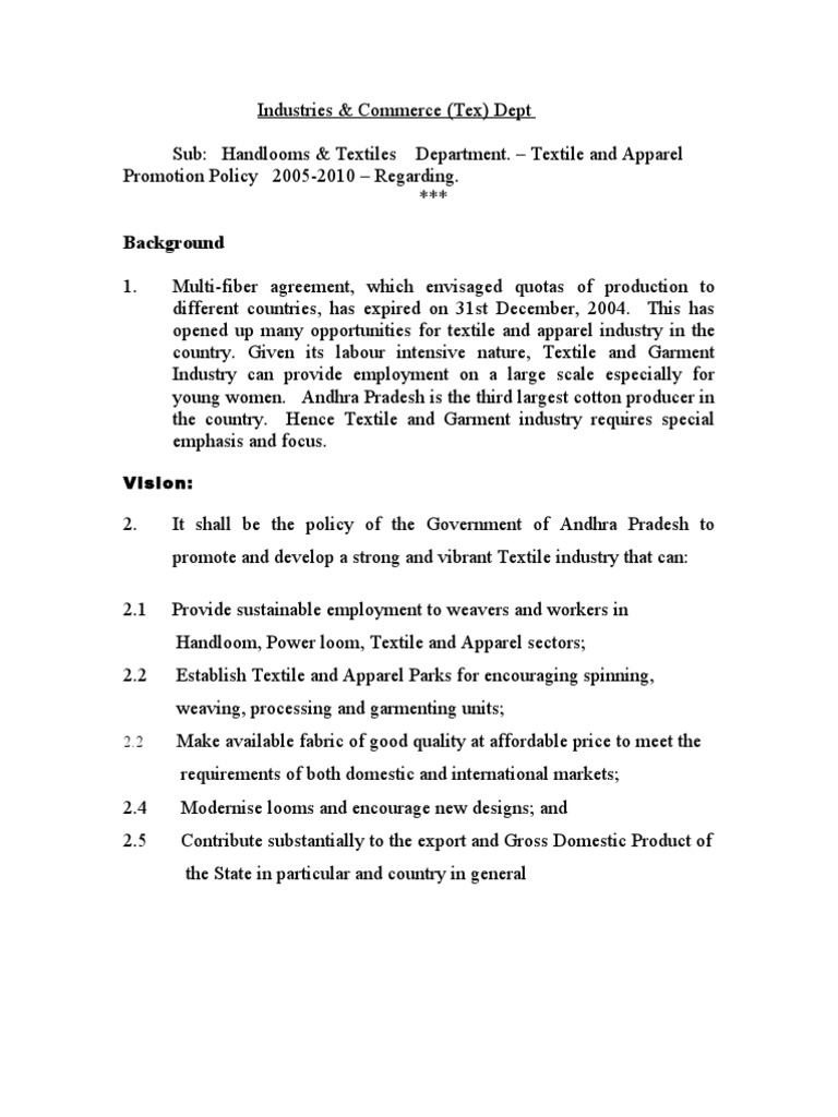 Textile Policy1 Weaving Spinning Textiles