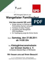 Familienfest und Kandidatenvorstellung SPD Wangelist 2011