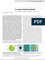 Demonstration of a Spaser-based Nanolaser