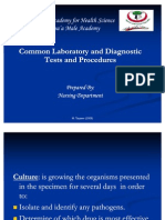 Common Laboratory and Diagnostic Tests and Procedures