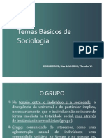 Texto 11 - Adorno e H., temas Básicos de Sociologia