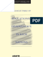 Innocenti Report Card 4 - A League Table of Educational Disadvantage in Rich Nations