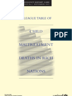 Innocenti Report Card 5 - A League Table of Child Maltreatment Deaths in Rich Nations