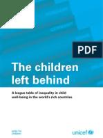 Innocenti Report Card 9 - The Children Left Behind