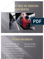 Role of Mis in Indian Railways