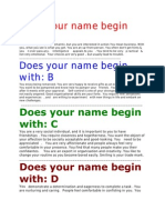 Does Your Name Begin With