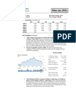 Valuation Report - Pfizer